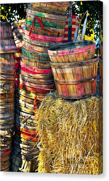 Bushel Baskets Canvas Print