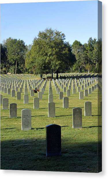 Bushnell National Cemetary Canvas Print