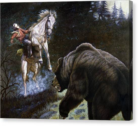 Bear Claws Canvas Print - Bushwacked by Gregory Perillo
