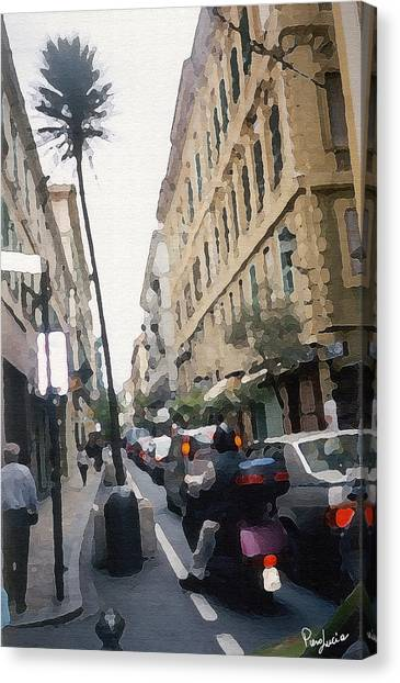 Busi Street Canvas Print by Piero Lucia
