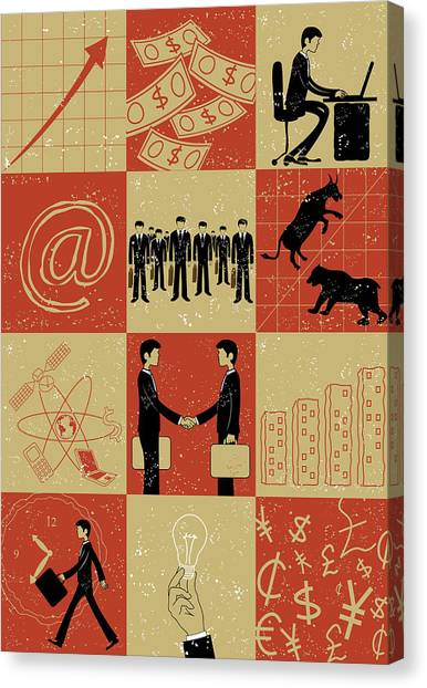 Yen Canvas Print - Business And Stock Market by Fanatic Studio / Science Photo Library