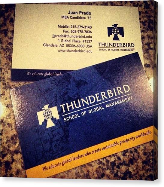 Mba Canvas Print - Business Cards Ready!! @thunderbird1946 by Juan Jose Prado