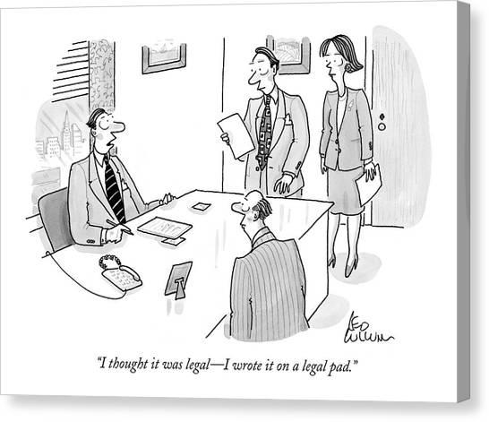 Businessman To Associates Canvas Print