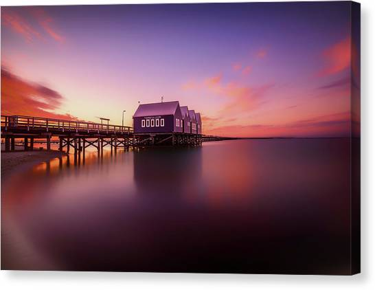 Long Wharf Canvas Print - Busselton Sunset by Despird Zhang
