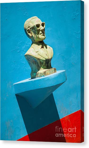 Bust And Shadow Canvas Print by OUAP Photography