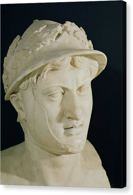 Hellenistic Art Canvas Print - Bust Of Pyrrhus by Roman