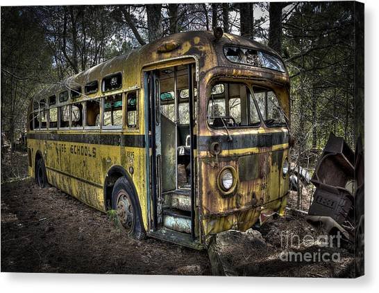 Bus'ted Canvas Print