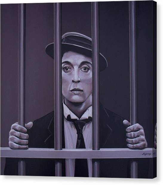 Limelight Canvas Print - Buster Keaton Painting by Paul Meijering