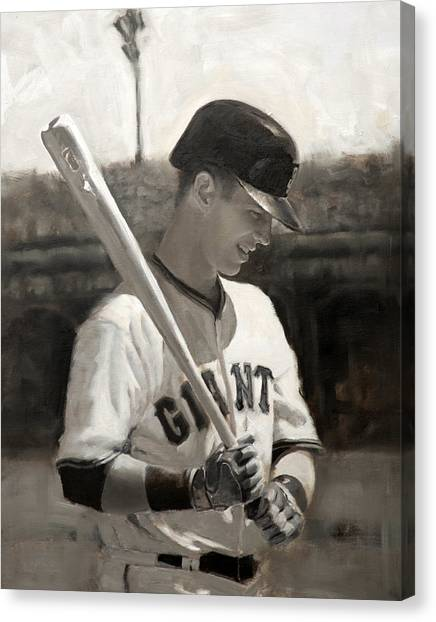 San Francisco Giants Canvas Print - Buster Posey - Quiet Leader by Darren Kerr