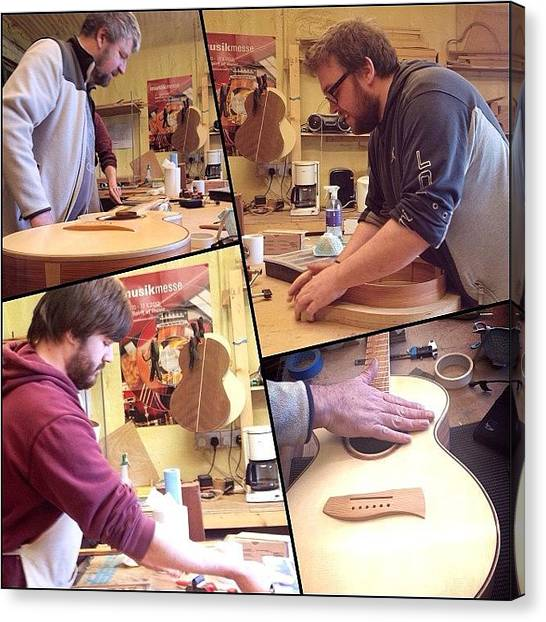 Music Canvas Print - Busy Busy In The Workshop Today - by J Catherwood