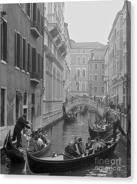 Busy Day In Venice Canvas Print