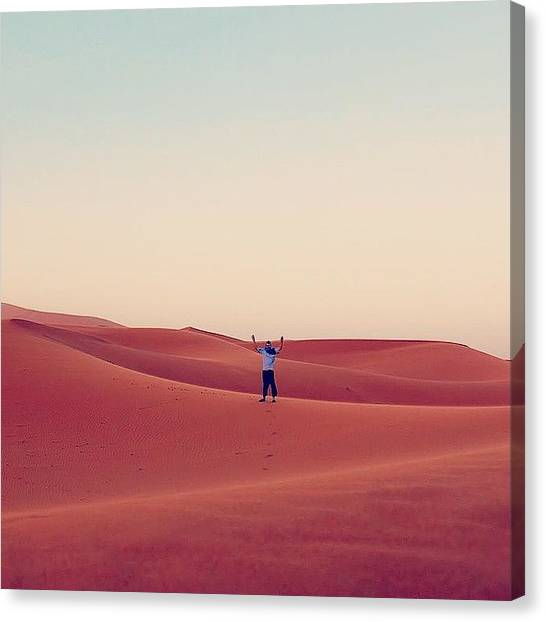 Sahara Desert Canvas Print - 'but The Desert Is So Huge, And The by David Smith