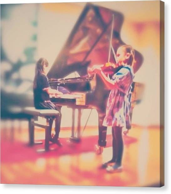 Violins Canvas Print - ...but They Made It! :)) #girl #concert by Simone Gruber