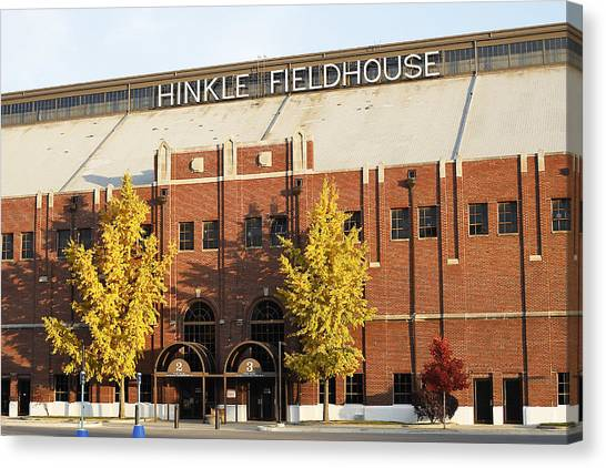 Atlantic 10 Canvas Print - Butler Bulldogs Hinkle Fieldhouse In The Fall by Replay Photos