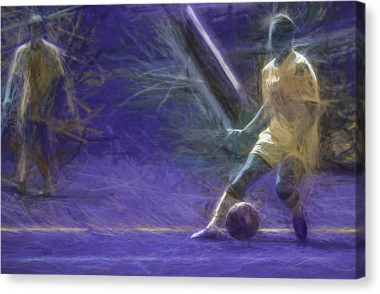 Indiana University Iu Canvas Print - Butler University Soccer Athlete Caroline Kowal Digitally Painted by David Haskett II