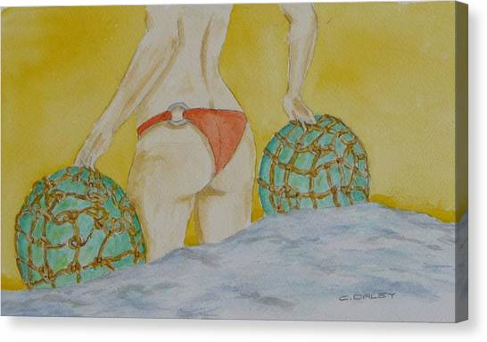 Butt And  Bouys Canvas Print by Charles  Daley