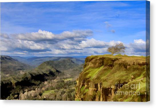 Butte Creek Canyon Overlook Canvas Print