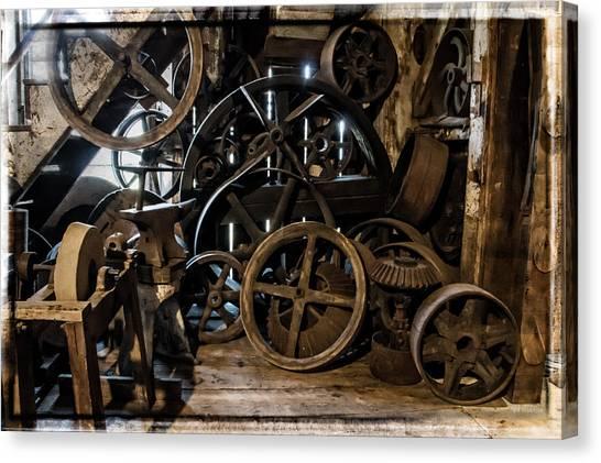 Butte Creek Mill Interior Scene Canvas Print