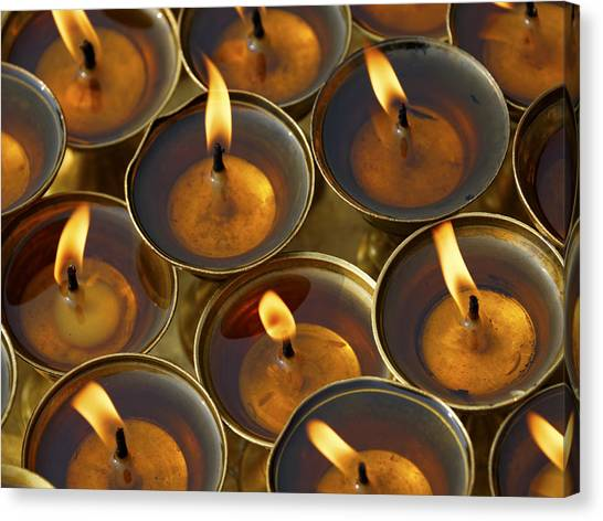 Butter Lamps Canvas Print