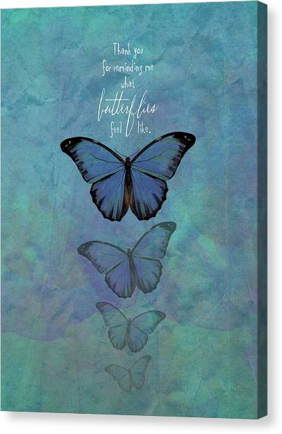 Wedding Day Canvas Print - Butterflies by Tammy Apple