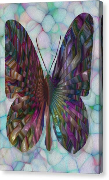 Analog Canvas Print - Butterfly 3 by Jack Zulli