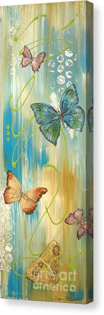 Acrylic On Canvas Print - Butterfly Bliss 1 by Jean Plout