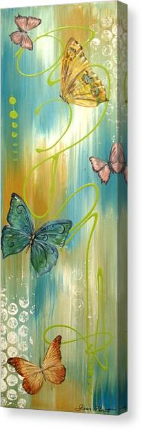 Acrylic On Canvas Print - Butterfly Bliss 2 by Jean Plout