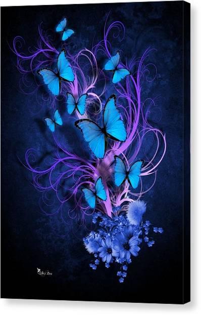 Butterfly Burst Canvas Print