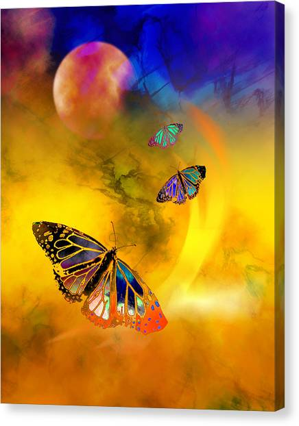 Butterfly Expansion Canvas Print by Bruce Manaka