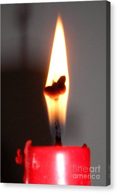 Butterfly Flame Canvas Print