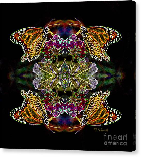 Butterfly Reflections 02 - Monarch Canvas Print
