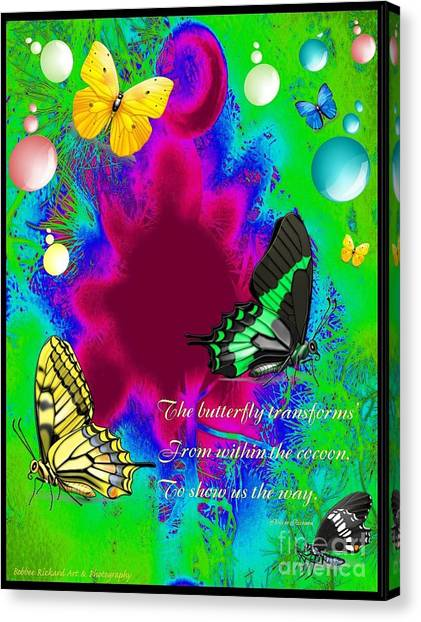 Butterfly Shows The Way Canvas Print