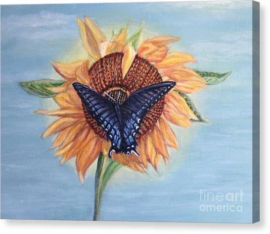 Butterfly Sunday In The Summer Canvas Print
