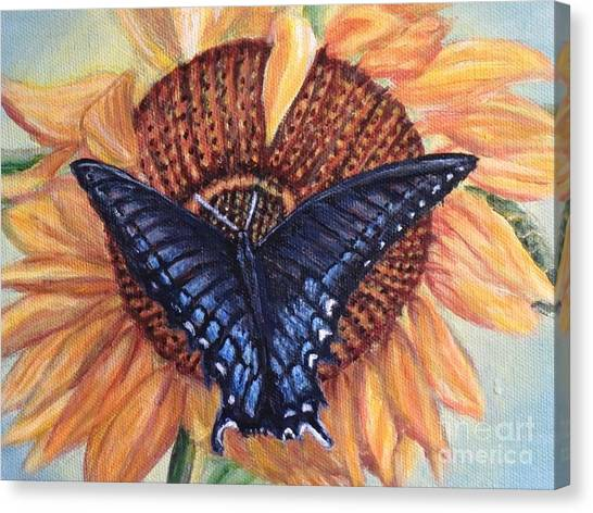 Butterfly Sunday Up-close Canvas Print