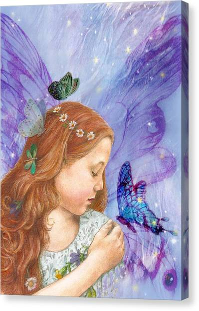 Butterfly Twinkling Fairy Canvas Print