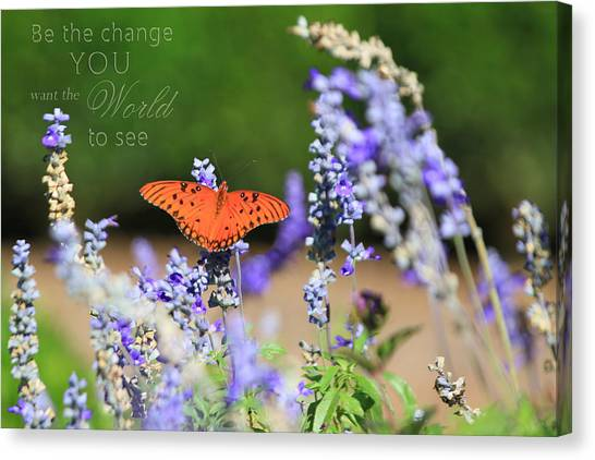 Butterfly With Message Canvas Print