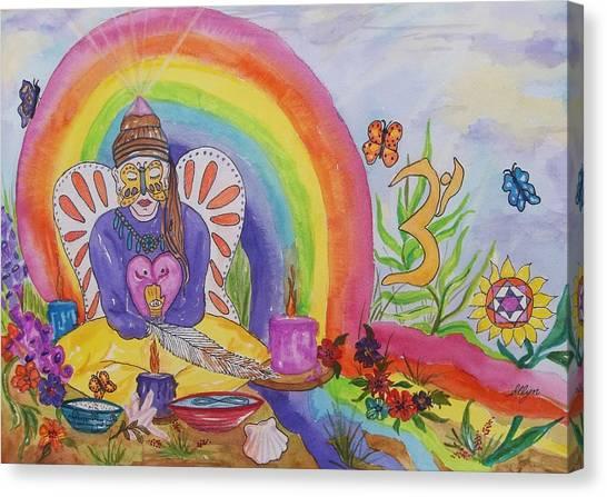Butterfly Woman Healer I Am Canvas Print