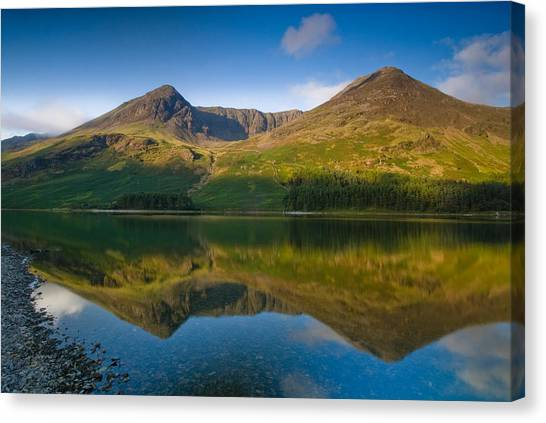 Buttermere Reflection Lake District Canvas Print by David Ross