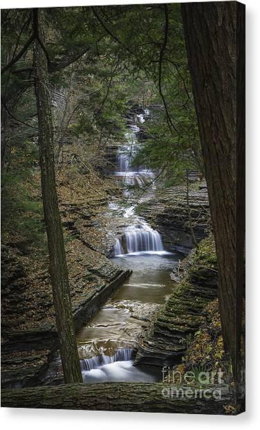 Buttermilk Falls In Autumn IIi Canvas Print