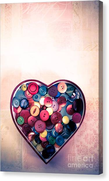 Button Love Canvas Print