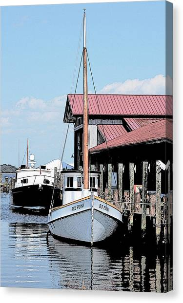 Buy Boat Old Point Canvas Print