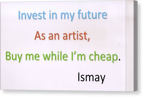 Buy Me While I'm Cheap. Canvas Print