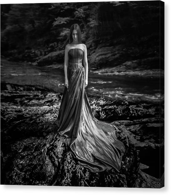 Dress Canvas Print - Bw Portrait (black And White ) by Mikhail Potapov