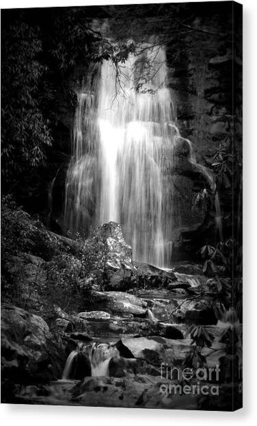 Bw Waterfall Canvas Print