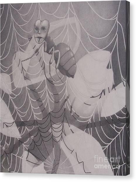By A Thread Canvas Print