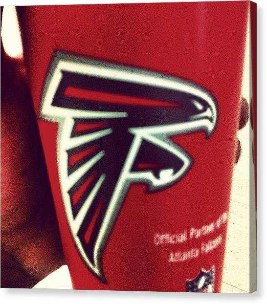 Atlanta Falcons Canvas Print - By Far The Worst Cup Of Coffee Ever by Kosi F