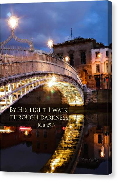 By His Light I Walk Canvas Print