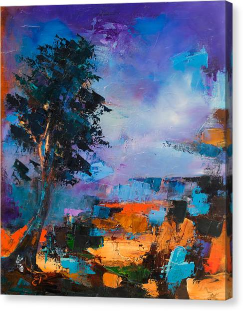 Fauvism Canvas Print - By The Canyon by Elise Palmigiani