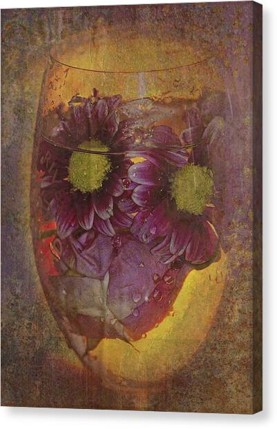 By The Glass  Canvas Print