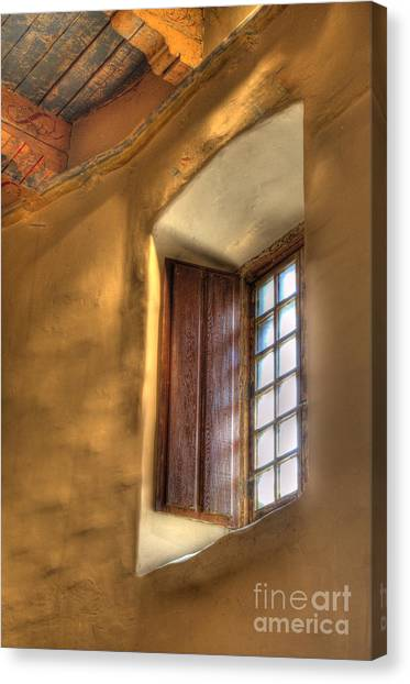 Mission San Diego Canvas Print - By The Light Of The Window by Bob Christopher